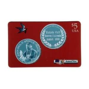 Collectible Phone Card $5. Pope John Paul II Visit Denver, Colorado