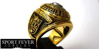 Green Bay Packers 1966 Super Bowl gold plated championship ring