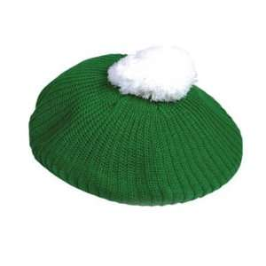 St Patricks Day Green White Retro Irish Golf Tam Hat
