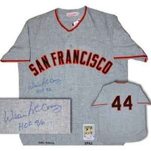 Autographed Willie McCovey Jersey   San Francisco Giants