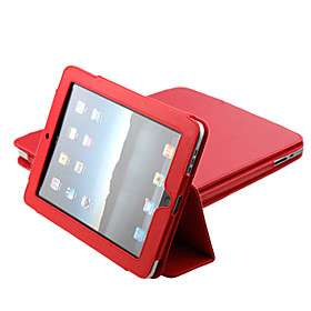 Protective PU Hard Leather Case + Stand for Apple iPad (Red) #00170504