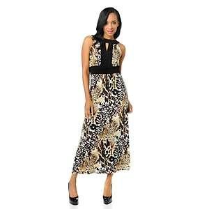 Tiana B. Goddess Chic Animal Print Maxi Dress