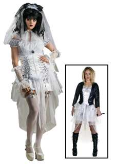 Bride of Chucky Costume   Womens Sexy Goth Bride Halloween Costumes
