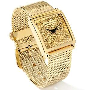Justine Simmons Jewelry Square Face Mesh Band Watch