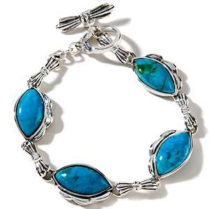 Studio Barse Turquoise Marquise Shaped Sterling Silver Bracelet