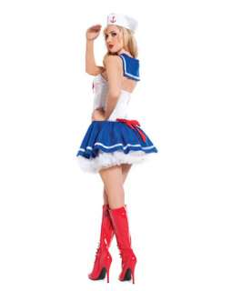 Womens Sexy Baby Blue Sailor Costume  Sexy Military Halloween