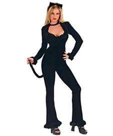 Sexy Cat Halloween Costume  Black Cat Adult Costume