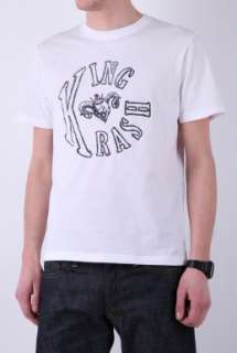 White Logo Satyr Head T Shirt by King Krash   White   Buy T Shirts