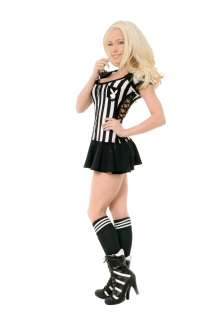 Adult Sexy Racy Referee Costume   Playboy Costumes   15FW102124