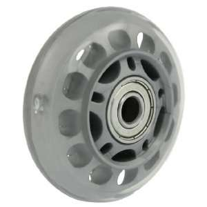 Gray Clear Plastic Skate Roller Wheel  Sports & Outdoors