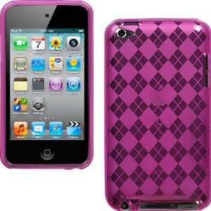 for Apple iPod Touch 4G, 4th Generation, 4th Gen   Hot Pink Argyle