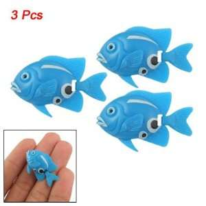 Pieces Mini Blue Plastic Tropical Fish Aquarium Ornament: Pet Supplies