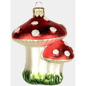 Mushroom Polish Glass Christmas Tree Ornament