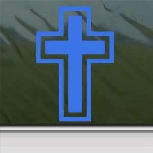 Cross Christian Blue Decal Car Truck Bumper Window Blue