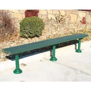 Standard Recycled Plastic Backless Park Bench Patio, Lawn & Garden