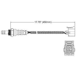 Walker 250 24255 Four Wire Oxygen Sensor Automotive