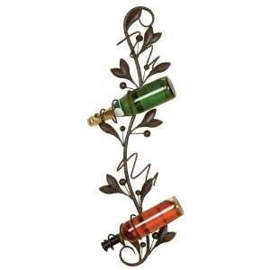 Metal Wall Wine Rack Bottle Holder Barware:  Home & Kitchen