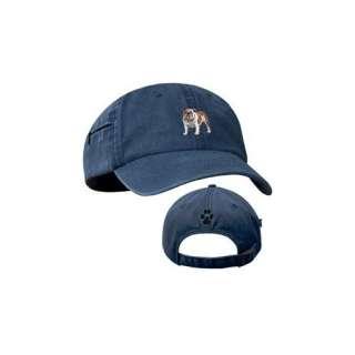 BullDog Blue Baseball Cap with Profile Clothing