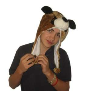 Plush Brown Dog Brand New Animal Hat High Quality