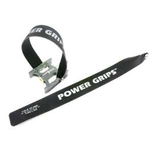 Powergrip Power Grips Toe Clips Powergrip Straps Blk