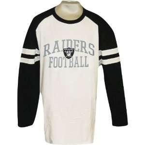Nfl Oakland Raiders Big & Tall Mens Long Sleeve Stripe T