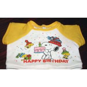 for 15 or 18 Plush Snoopy   Happy Birthday Shirt Toys & Games