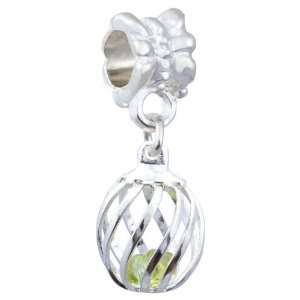 Soufeel Hollow Ball May Birthstone Silver Plated Dangle European Charm