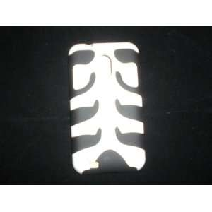 White Fishbone with Black Skin Case Cover+ Lf Stylus Pen Cell Phones