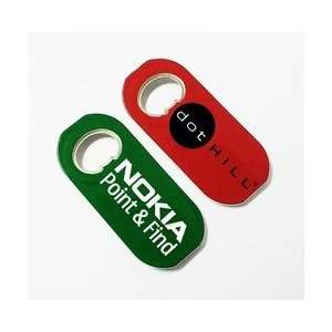 BO8054    Oval / surf board shape magnetic bottle opener: