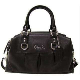 Coach Ashley Black Leather Satchel F15445 Bag   Coach