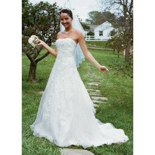 Davids Bridal Wedding Dress Embroidered Organza Gown With 3D Floral