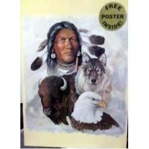 Jigsaw Puzzle   Native American, Wolf Eagle, Buffalo : Toys & Games