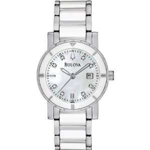 Bulova 98P121 Ladies Diamonds Ceramic Steel Watch