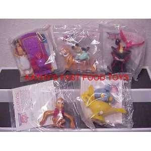 Burger King Set of 5 Disney Aladdin Kids Meal Figures New