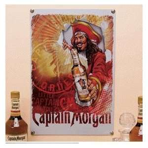 Captain Morgan Metal Wall Bar Sign 18 X 12 Home