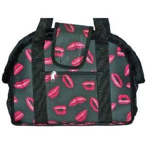 Dog Carrier   Open Top Pink Lips Pet Carrier   14