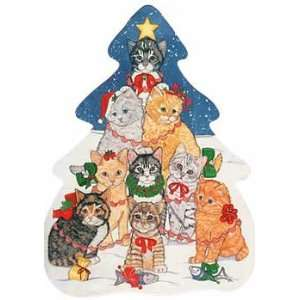 Cat Christmas Tree Postcard Office Products