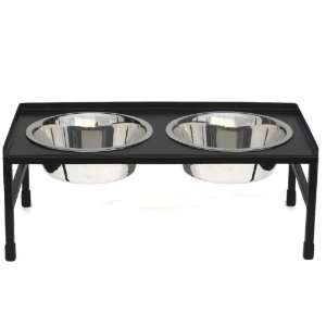 Tray Top Double Diner Dog Bowl: Pet Supplies