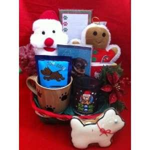 Dog and Owner Holiday Christmas Gift Basket