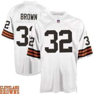 Cleveland Browns Jersey 32 jim browns Authentic Football White Jerseys