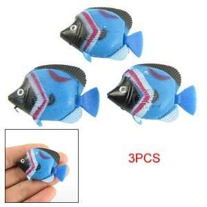Como 3 Pieces Aquarium Colroful Plastic Sea Fish Decoration