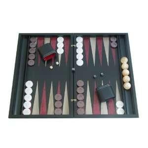 Backgammon Board Game Set with Racks (19 Wood Case