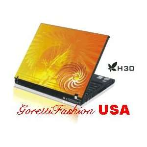 Laptop Notebook Skins Sticker Cover H30 Orange Storm