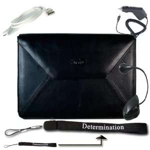com  KINDLE DX Envelope BLACK LEATHER Carrying POUCH CASE Cover