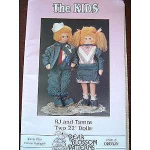 RJ and Tamra   Two 22 Dolls (SEWING PATTERN) Arts, Crafts & Sewing