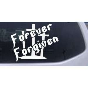 Forever Forgiven 3 Crosses Christian Car Window Wall Laptop Decal