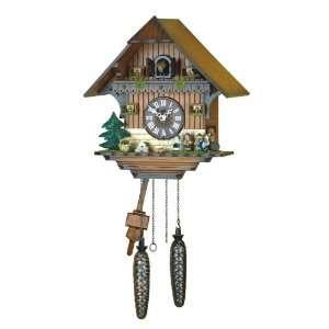 Quartz Cuckoo Clock Black forest house, incl. batteries