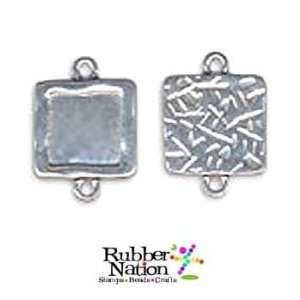 Photo Jewelry Charms Pendants SILVER SQUARES 18mm Altered