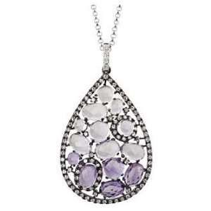 Multi color Stone Diamond Necklace Jewelry