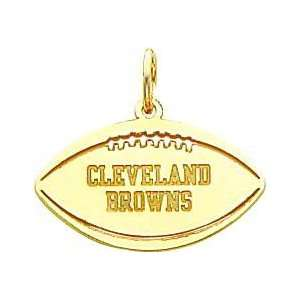 14K Gold NFL Cleveland Browns Football Charm Sports